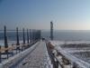 Pegelturm 27.12.2000 bei Schnee und Eis