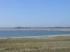Pegelturm  4.4.2000 von der Halbinsel Pouch aus gesehen