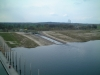 Sicht vom Pegelturm 20.4.2001 daneben der Flutungskanal