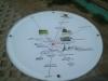 Karte neben dem Pegelturm 20.4.2001