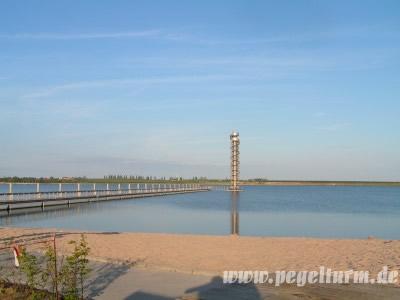 Strand am Pegelturm